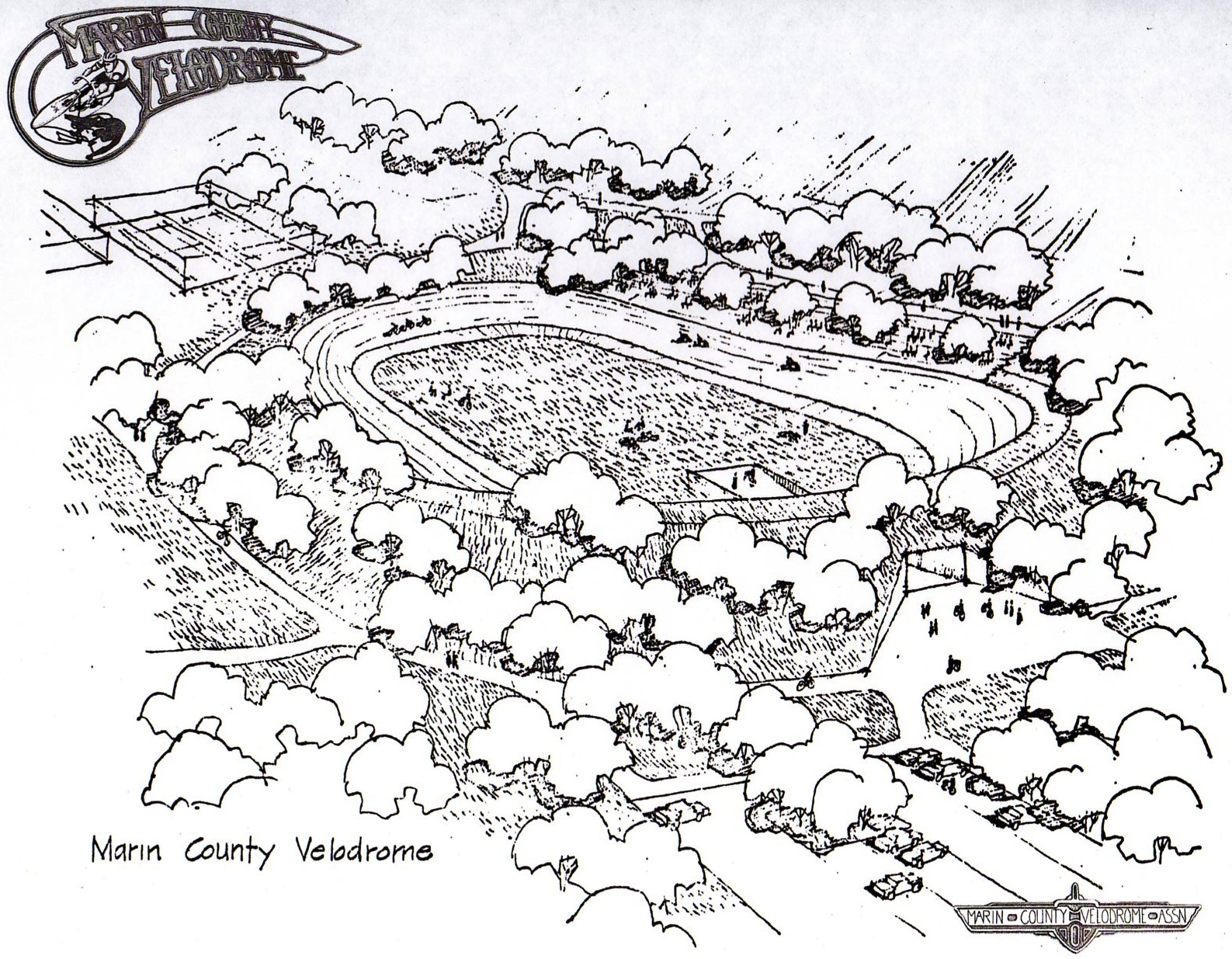 Marin Velodrome Drawing